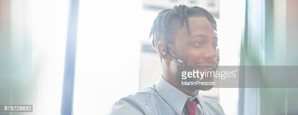 Headset business call