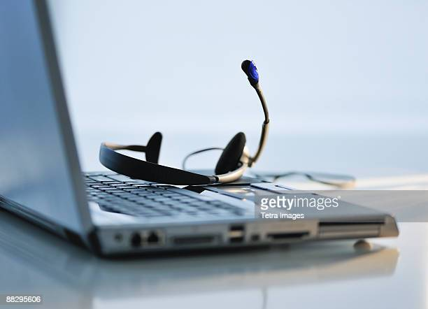 Headset on laptop