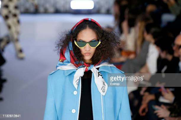 Headshot at the Courreges show at Paris Fashion Week Autumn/Winter 2019/20 on February 27 2019 in Paris France