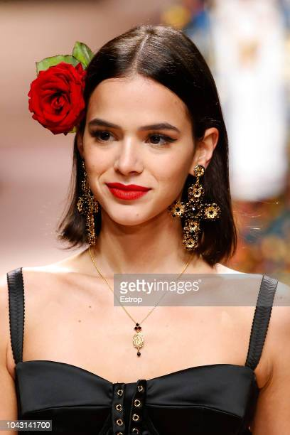 Headshot at the Dolce Gabbana show during Milan Fashion Week Spring/Summer 2019 on September 23 2018 in Milan Italy