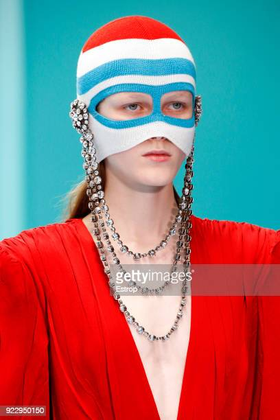 Headshot at the Gucci show during Milan Fashion Week Fall/Winter 2018/19 on February 21 2018 in Milan Italy