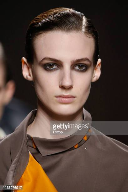 Headshot at the Hermes show at Paris Fashion Week Autumn/Winter 2019/20 on March 2 2019 in Paris France