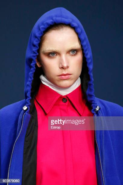 Headshot at the Lucio Vanotti show during Milan Fashion Week Fall/Winter 2018/19 on February 21 2018 in Milan Italy