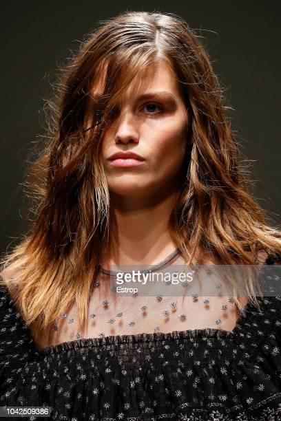 Headshot at the Philosophy Di Lorenzo Serafini show during Milan Fashion Week Spring/Summer 2019 on September 22 2018 in Milan Italy