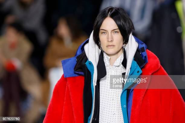Headshot detail during the Balenciaga show as part of the Paris Fashion Week Womenswear Fall/Winter 2018/2019 on March 3 2018 in Paris France
