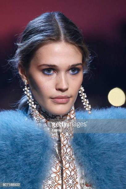 Headshot during the Elie Saab show as part of the Paris Fashion Week Womenswear Fall/Winter 2018/2019 on March 3 2018 in Paris France
