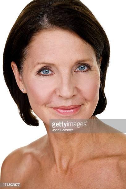 Headshot of a beautiful mature woman