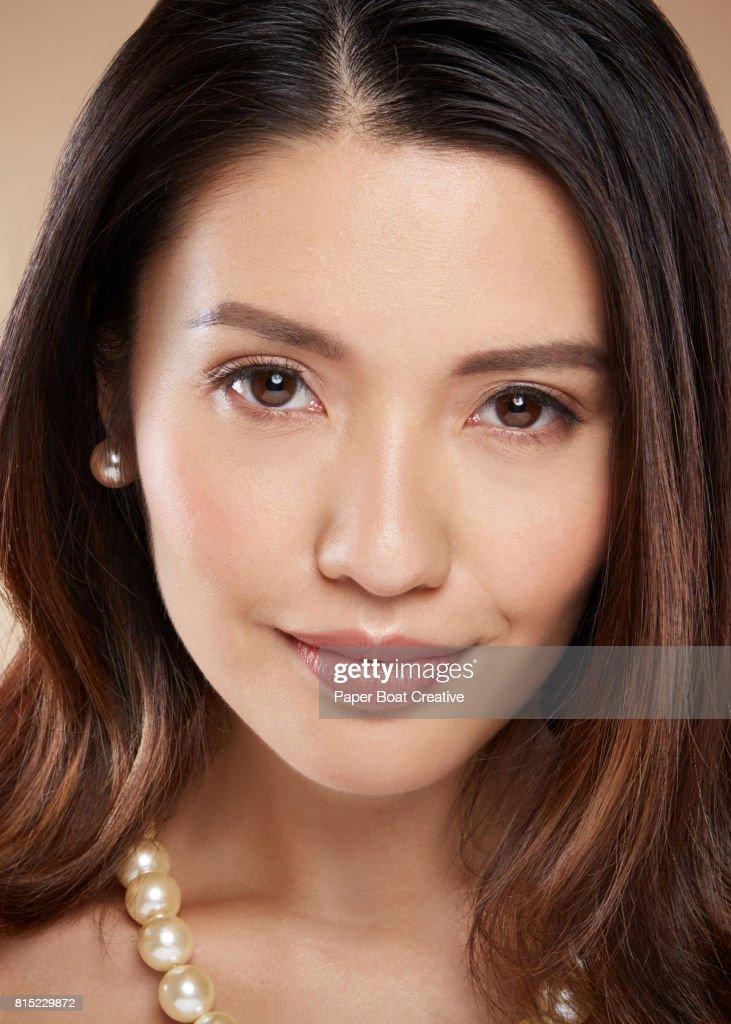 Headshot Of A Filipina Woman With Nude Lips And No Make Up -6436