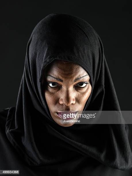 Headshot of a Serious African Muslim woman