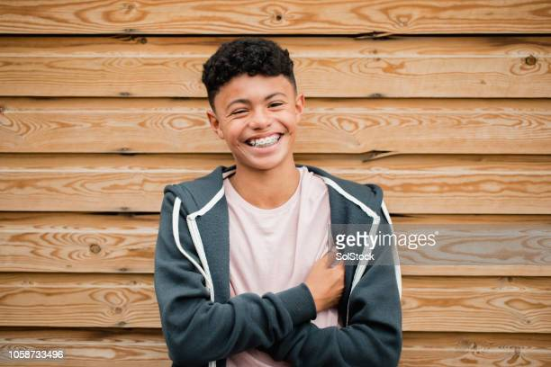 headshot of a teenage boy - teenage boys stock pictures, royalty-free photos & images