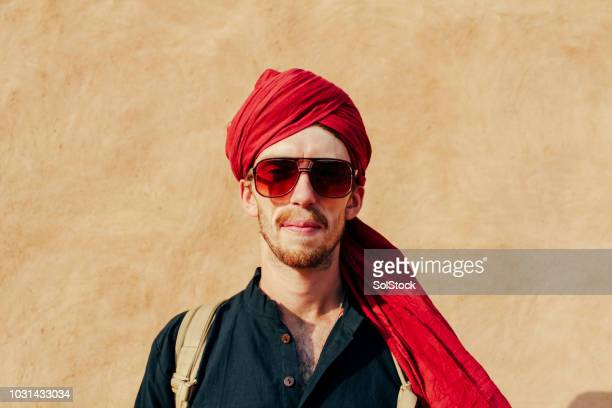Headshot of a Young Man in the Thar Desert