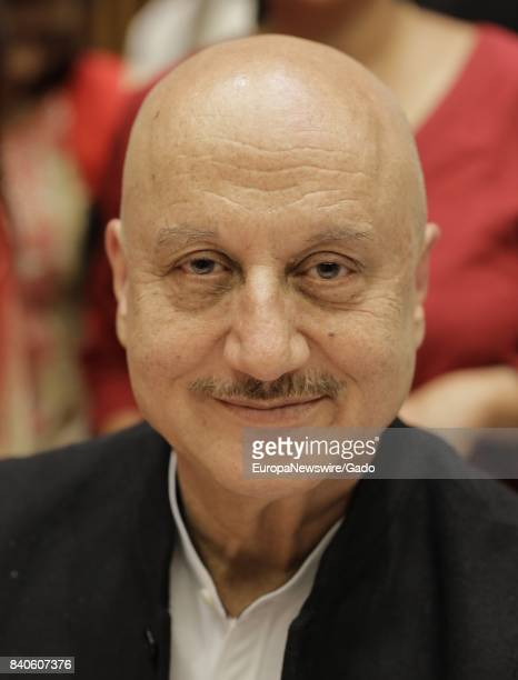 Headshot of actor Anupam Kher smiling at the United Nations in New York City New York June 21 2017