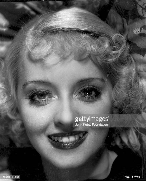 Headshot of actress Bette Davis for Warner Bros Studios 1933