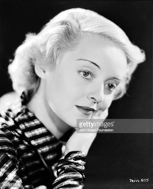 Headshot of actress Bette Davis for Warner Bros Studios 1934