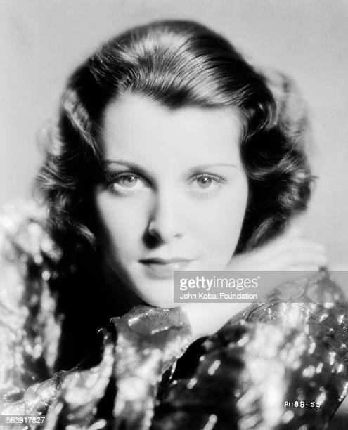 Headshot of actress Frances Dee wearing a sequin blouse for Paramount Pictures 1930