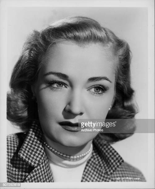 Headshot of actress Nina Foch as she appears in the movie 'The Undercover Man' 1949