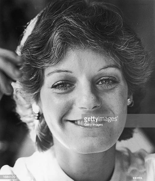 Headshot of American producer Julia Phillips smiling 1977