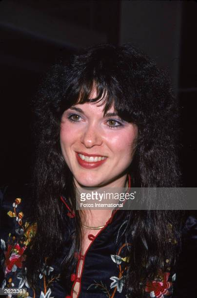 Headshot of American rock singer Ann Wilson of the group Heart circa 1977
