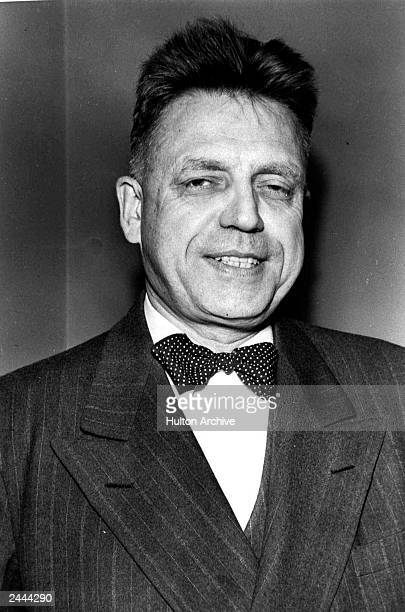 Headshot of American sexuality researcher and author Dr Alfred Kinsey circa 1948