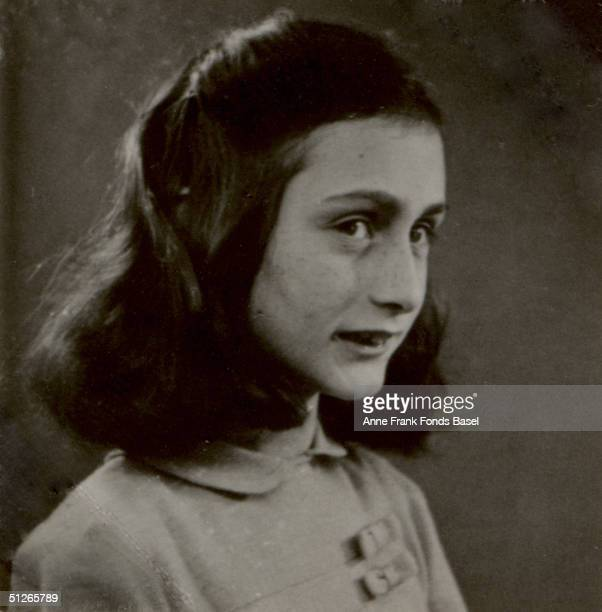 A headshot of Anne Frank May 1941 From Anne Frank's photo album