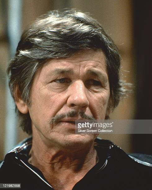 Headshot of Charles Bronson US actor circa 1975