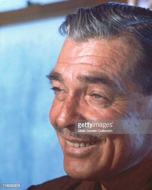 Headshot of Clark Gable US actor smiling in a publicity portrait issued for the film 'The Misfits' USA 1961 The 1961 drama directed by John Huston...