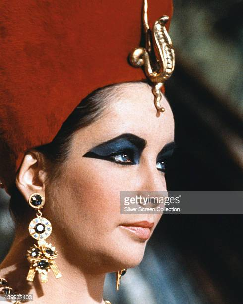 Headshot of Elizabeth Taylor British actress in profile in a publicity still issued for the film 'Cleopatra' 1963 The historical drama directed by...