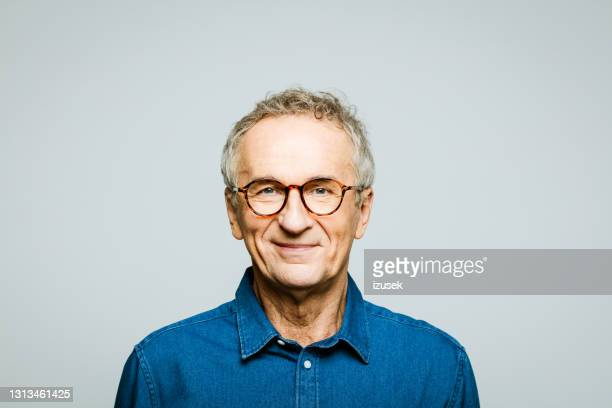headshot of friendly senior man - charming stock pictures, royalty-free photos & images