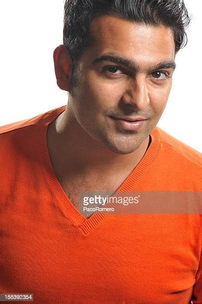 headshot of handsome young man from pakistan - handsome pakistani men stock photos and pictures