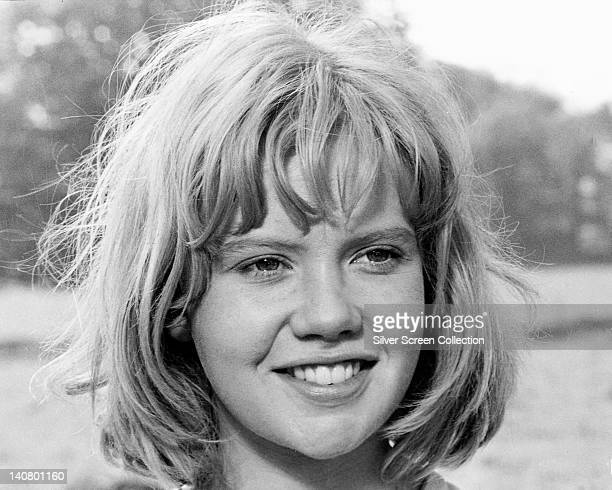 Headshot of Hayley Mills British actress smiling with unkempt hair circa 1965