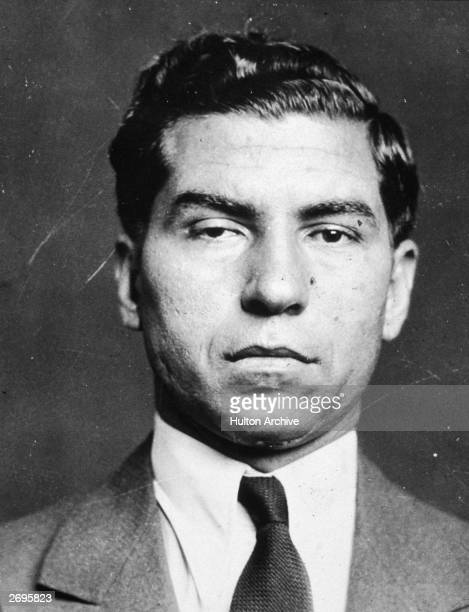 Headshot of Italianborn gangster Lucky Luciano