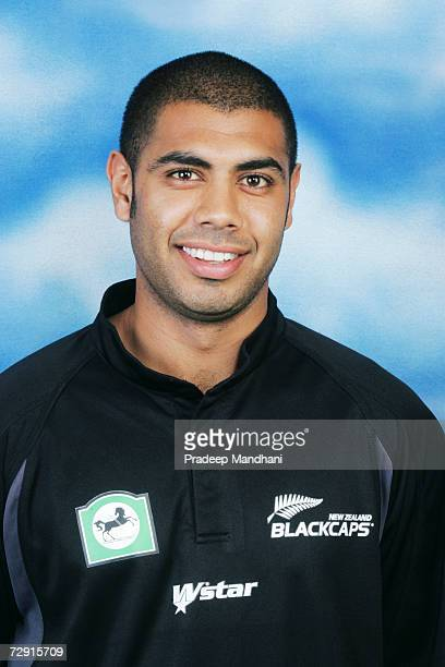 A headshot of Jeetan Patel of New Zealand taken ahead of the ICC Champions Trophy on October 2 2006 in Mumbai India
