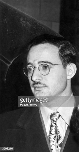 Headshot of Julius Rosenberg American traitor who was convicted of espionage with his wife Ethel and executed