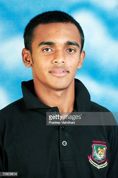 A headshot of Mehrab Hossain jnr of Bangladesh taken ahead of the ICC Champions Trophy on October 2 2006 in Mumbai India