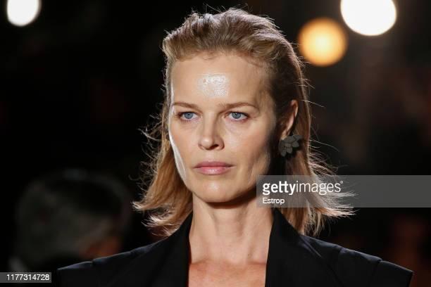 Headshot of model Eva Herzigova during the Isabel Marant Womenswear Spring/Summer 2020 show as part of Paris Fashion Week on September 26 2019 in...