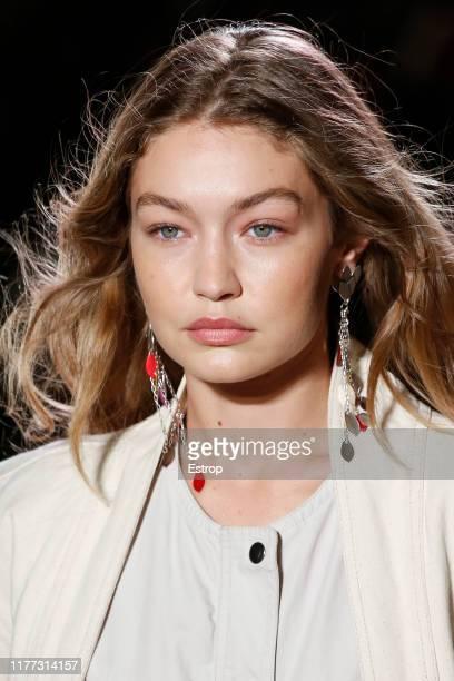 Headshot of model Gigi Hadid during the Isabel Marant Womenswear Spring/Summer 2020 show as part of Paris Fashion Week on September 26 2019 in Paris...