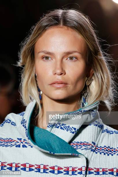 Headshot of model Natasha Poly during the Isabel Marant Womenswear Spring/Summer 2020 show as part of Paris Fashion Week on September 26 2019 in...