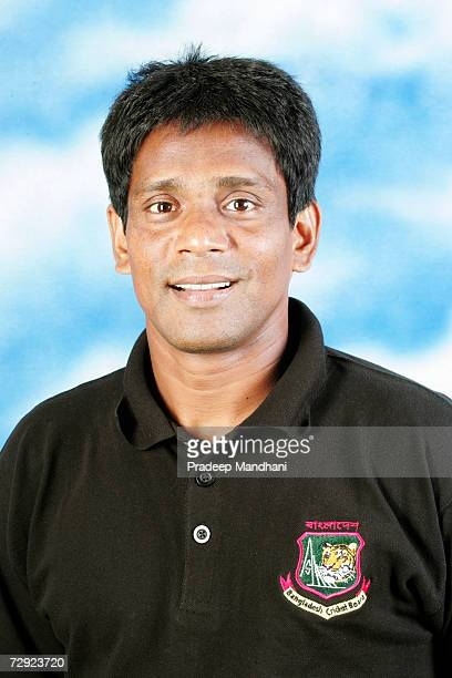 A headshot of Mohammad Rafique of Bangladesh taken ahead of the ICC Champions Trophy on October 2 2006 in Mumbai India