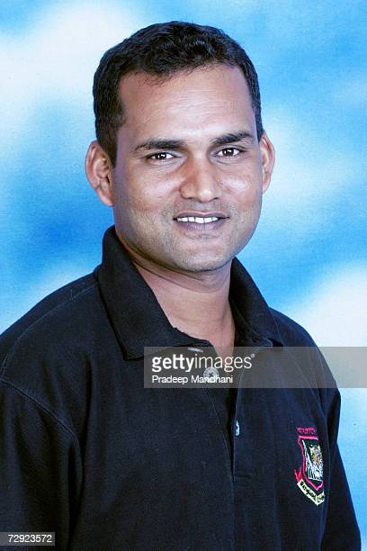 A headshot of Mohammad Salahuddin Assistant Coach of Bangladesh taken ahead of the ICC Champions Trophy on October 2 2006 in Mumbai India