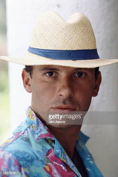 Headshot of Pippo Pisciotto at the villa belonging to Franco Zeffirelli in Positano Italy in August 1984