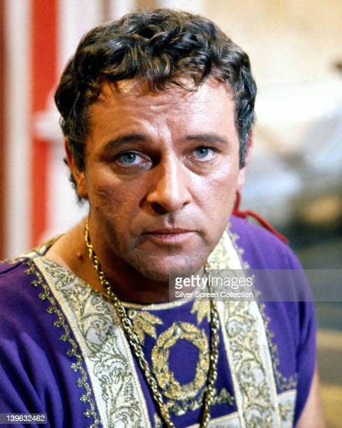 Headshot of Richard Burton British actor British actor in costume in a publicity still issued for the film 'Cleopatra' 1963 The historical drama...