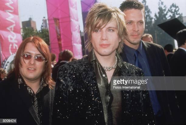 Headshot of rock group The Goo Goo Dolls outside The Grammy Awards Los Angeles California