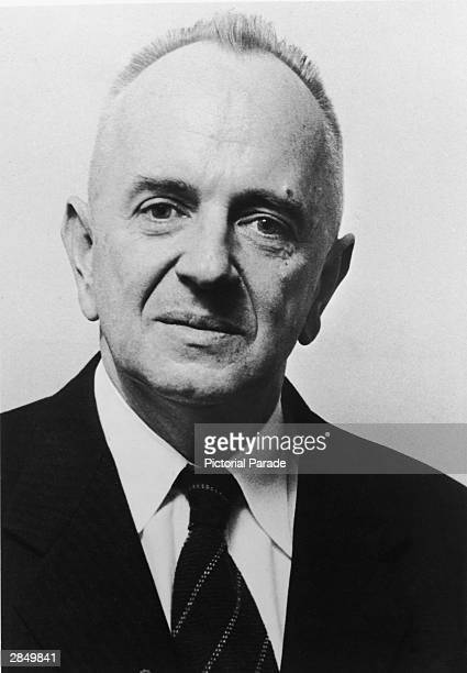 "Headshot of Russian-born biologist and geneticist Theodosius Dobzhansky who co-wrote ""Radiation, Genes, and Man"", circa 1960s."