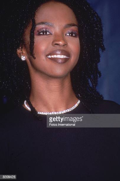 Headshot of singer Lauryn Hill at the Grammy Awards Los Angeles California