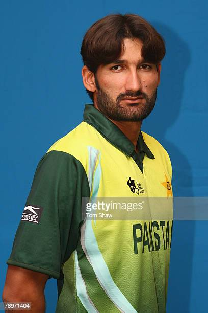 Headshot of Sohail Tanvir of Pakistan at the Southern Sun Hotel on September 21 2007 in Cape Town South Africa