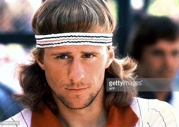 Headshot of Sweden's tennis star Bjorn Borg during the WCT Challenge Cup circa 1978 in Montego Bay Jamaica