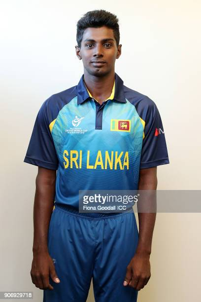 Headshot of Thilan Prashan of Sri Lanka after the ICC U19 Cricket World Cup match between Sri Lanka and Pakistan at Cobham Oval on January 19 2018 in...