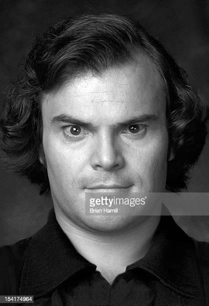 Headshot portrait of American actor and comedian Jack Black Los Angeles California 2002