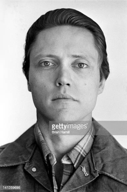 Headshot portrait of American actor Christopher Walken New York New York 1976