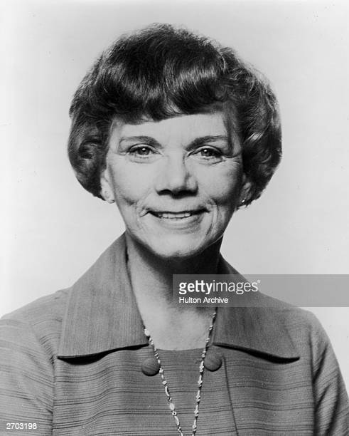 Headshot portrait of American actor Ellen Corby best known as Grandma Walton on the television series 'The Waltons' March 1975